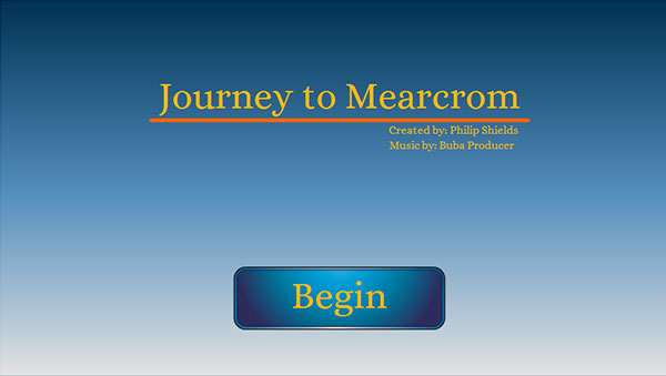 Journey to Mearcrom Menu