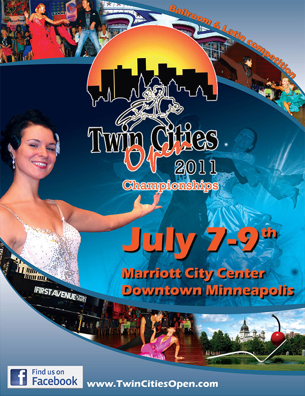Twin Cities Open Dance Poster