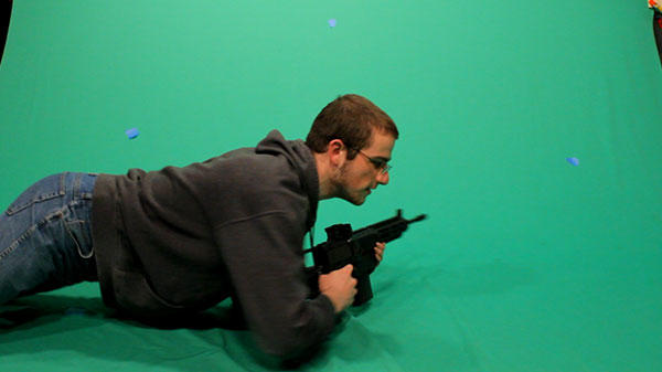 Battlefield Crawl Shot One Green-screen